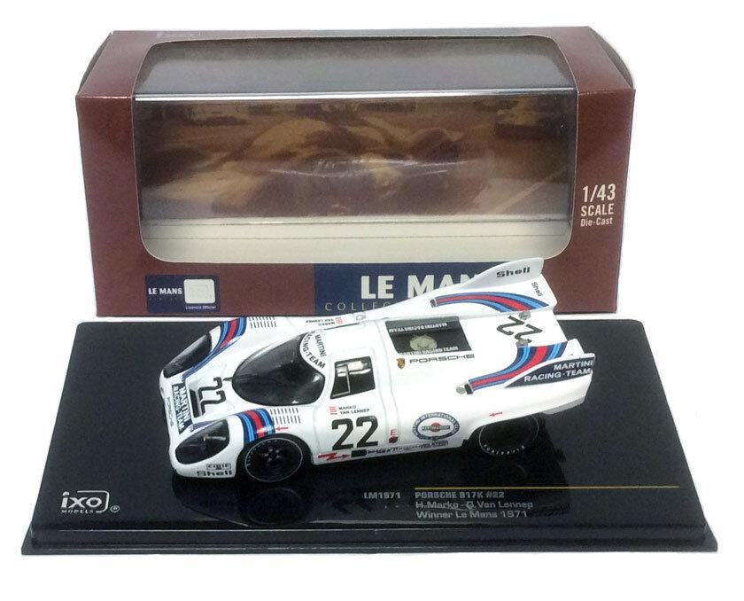 IXO LM1971 Porsche 917K Winner Le Mans 1971 - Marko Van Lennep 1 43 Scale