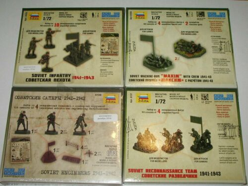 1//72 WW2 Russian Red Army four set bundle 6104 6108 Details about  /Zvezda 6137 6103