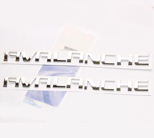 2x OEM Chrome AVALANCHE Nameplate EMBLEMS Letter for GM Chevrolet UW