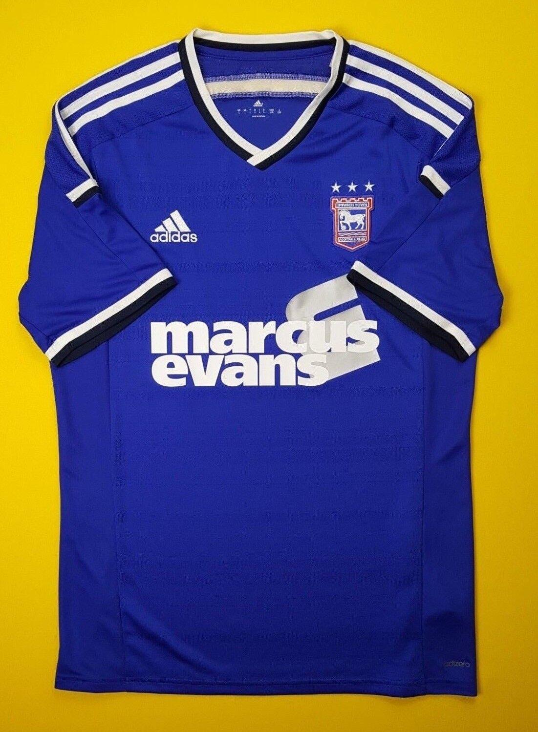 Ipswich Town adizero jersey shirt LARGE 2014 2015 home M36151 soccer Adidas ig93