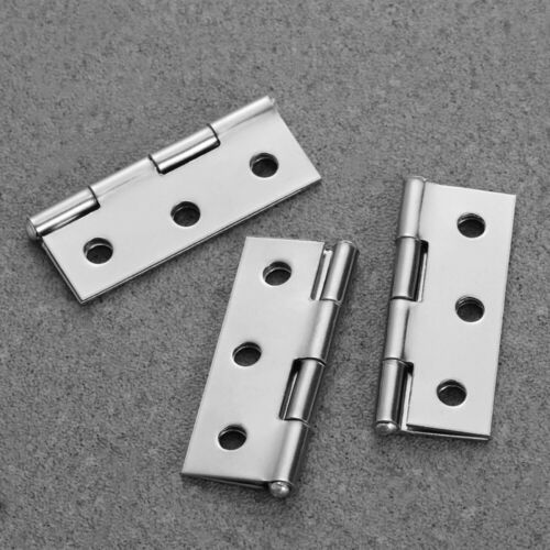 10pcs Durable Stainless Steel Window Cupboard Hinges Connectors Silver