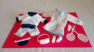 Barbie Puppe Kleidung Tennis Schläger Schuhe Accessoires Outfit Bekleidung