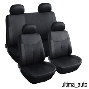 8-PCS-FULL-SET-BLACK-LEATHER-LOOK-SEAT-COVERS-FOR-AUDI-A1-A2-A3-A4-A6-TT