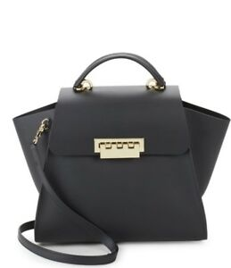 9527906fc ZAC ZAC POSEN Eartha Iconic Top Handle/cross-body bag- Black   eBay