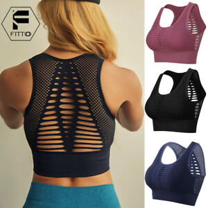 Womens-Yoga-Sports-Bra-Fitness-Stretch-Workout-Seamless-Racerback-Padded-Tops-US