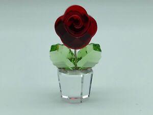 Swarovski-Figurine-Pot-de-Fleurs-Fleur-5-Cm-Top-Etat
