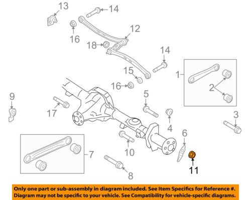 FORD OEM Rear Suspension-Lower Control Arm Nut W520215S436