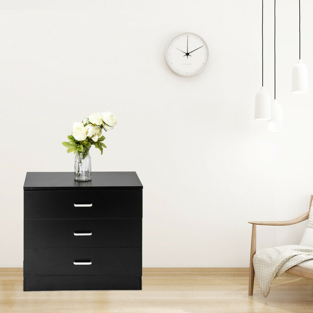3 Drawer Wood Modern Cabinet