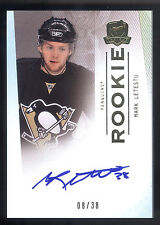 09/10 UD The Cup Gold Rainbow Rookie #102 Mark Letestu On Card Autograph #08/38
