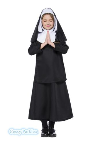 J3 Girls Sister Nuns Virgin Mary Religious History Kids Book Week Day Outfit
