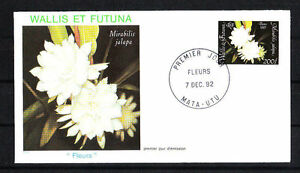 Wallis-et-Futuna-enveloppe-1er-jour-flore-fleur-1992