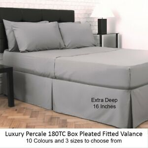 POLY COTTON FITTED VALANCE SHEET