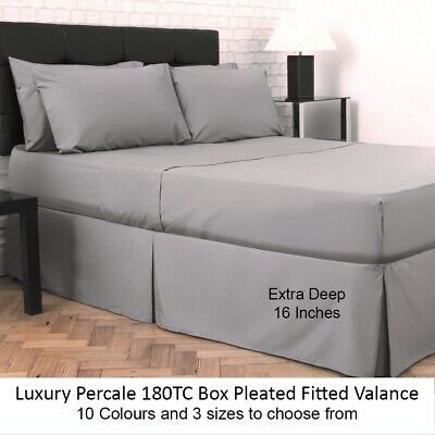Plain Dyed Fitted Bed Sheet Poly-Cotton *Special /& Limited Offer* Clearanance
