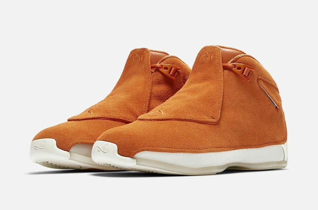 Nike Air Jordan 18 XVIII size 16. Campfire orange Suede. AA2494-801.