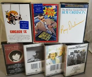 LOT OF (7) CLASSIC SOFT ROCK/ROCK 70'S/80'S CASSETTES: BILLY JOEL, ROY ORBISON +