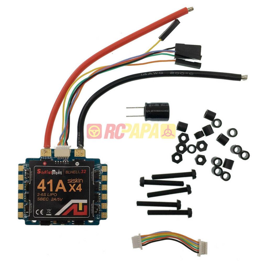 Sunrise Siskin BLHeli_32 41Ax4 2-6S SBEC 2A 5V ESC for FPV Quad Drone Race DIY