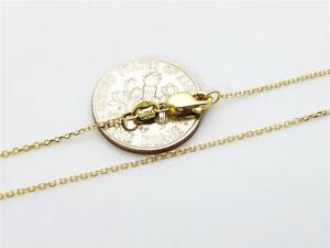 14K-16-034-Solid-Yellow-Gold-Thin-Dainty-CABLE-Link-Chain-Pendant-Necklace-9mm