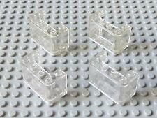 Lot de 4 pare brises 2x4x2 trans-clair / tr-clear windscreens, LEGO, #4594