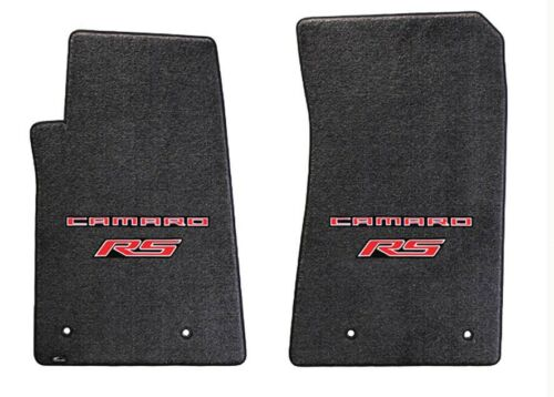 Ebony floor mats 2010-2015 Camaro Embroidered Logo RS in Red double logo NEW