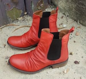 EOS-Portugal-WILLOW-BLOOD-ORANGE-Leather-Boots-RRP-219-Sale-Super-comfortable