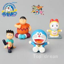 Anime Doraemon Big G Honekawa Suneo Dorami PVC Action Figure Model Doll Toy 4pcs