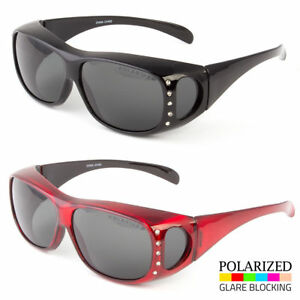 5a5cfed0bc65 1 Pair POLARIZED cover put over Sunglasses wear Rx glass fit driving ...