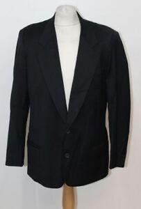 GIORGIO-ARMANI-LE-COLLEZIONI-Men-039-s-Black-Wool-V-Neck-Blazer-Jacket-Chest-42-034