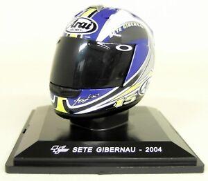 Altaya-1-5-Scale-Sete-Gibernau-2004-Arai-Moto-GP-Helmet-with-Plinth-and-Case