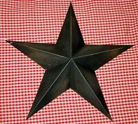"Rustic Primitive BLACK Tin 12"" Barn Star Country Home decor Farmhouse charm"