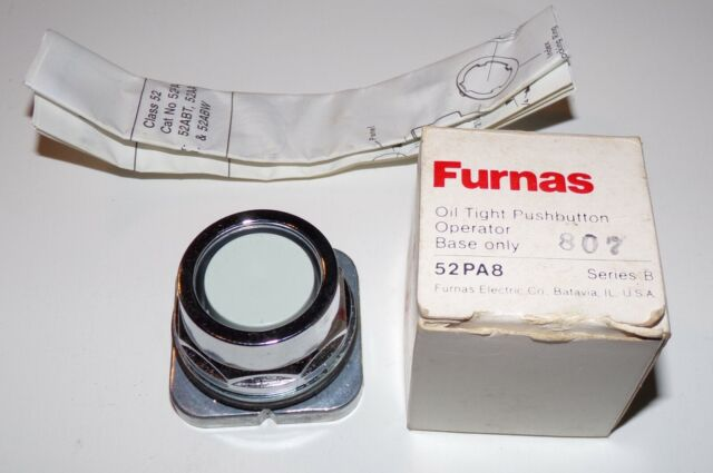 Furnas 52PA8 Oil Tight Grey Pushbutton Operator - Brand New
