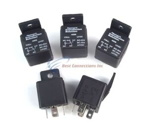 5 Pack Audiopipe 12 Volt 5 Pin SPDT 30 - 40 Amp Relay Sealed Auto Car Truck