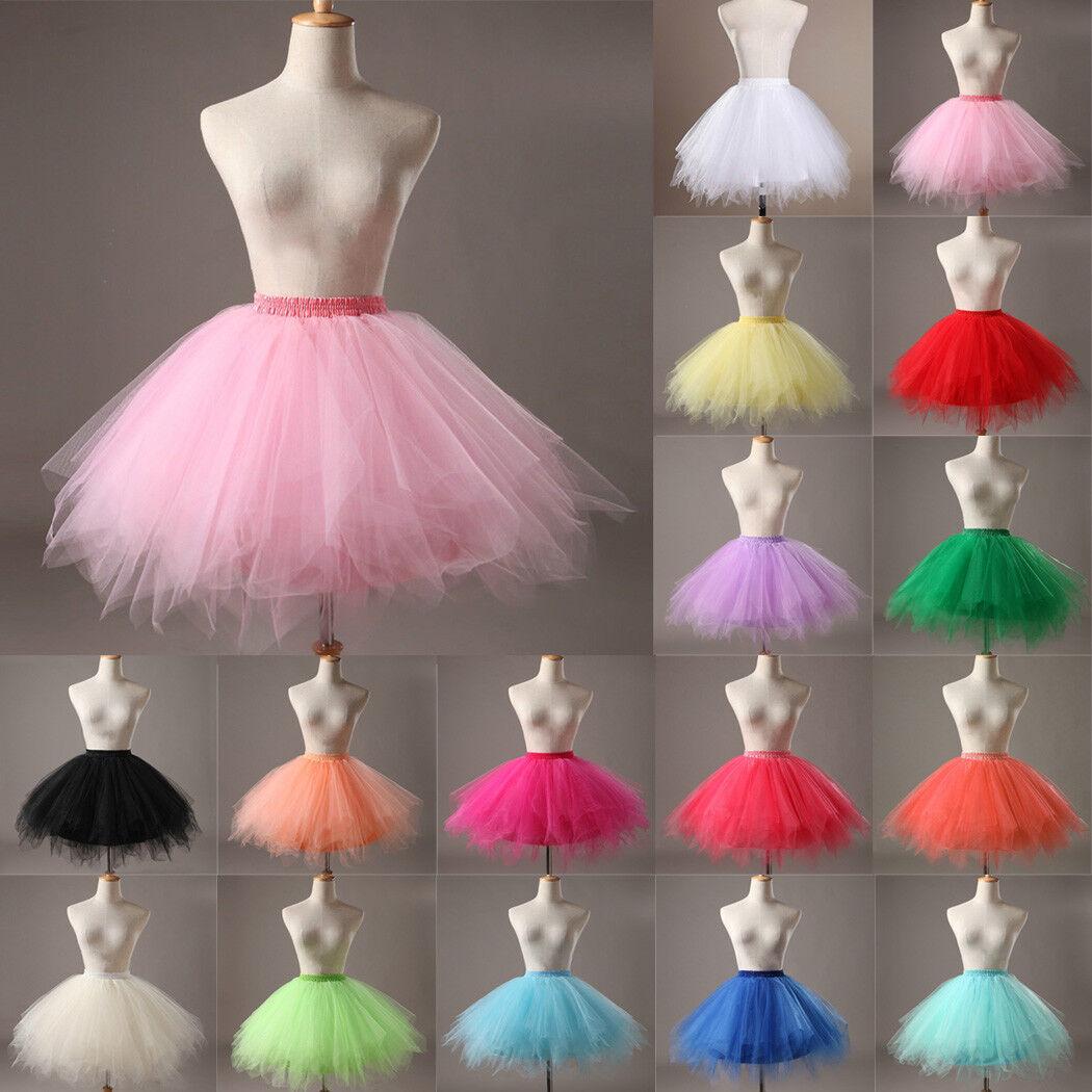 Hot Women Adult Lady Tutu Tulle Skirt Fancy Skirt Dress Up Party Dancing Dress 2