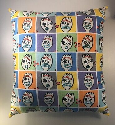 Retro Forky Toy Ad Throw Pillow