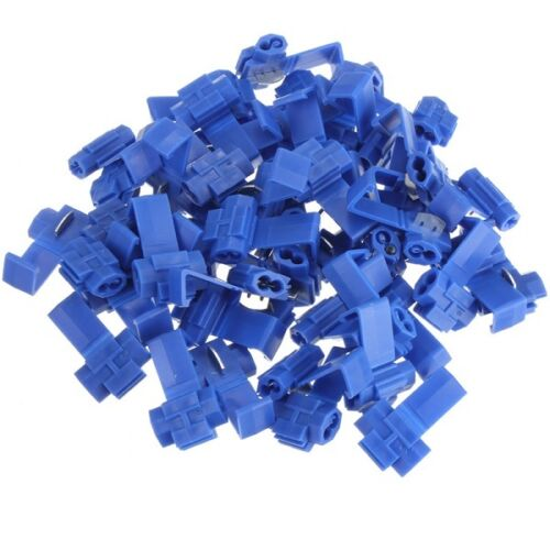 Blue Scotchlock Type Self Stripping Connector Pack 50 1.5-2.5mm Cable