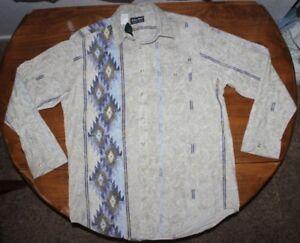 5e2f76678 Men s John Blair Southwest Long sleeve button up shirt Large