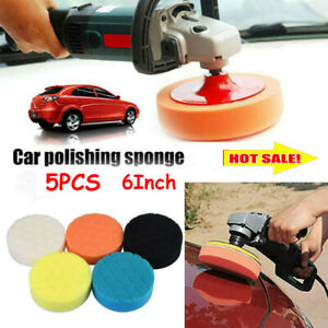 "6/"" Buffing Pad Kit Polishing Pads Foam Buffing Sponge Pads Waxing Car Polisher"