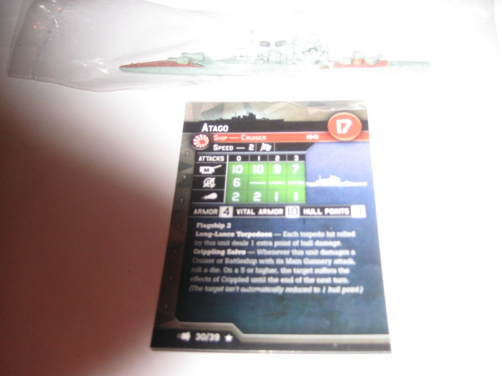 AXIS & ALLIES WAR AT SEA FLEET COMMAND Atago x1