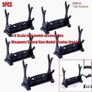 5PCS-1-6-Soldier-Weapons-Sword-Gun-Model-Display-Stand-Model-Fit-12-039-039-Body-Figure