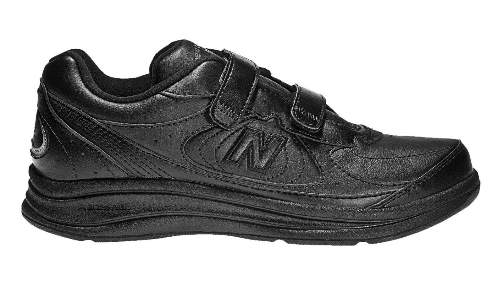 New Balance MW577VK Men's Hook and Loop 577 Black Leather Walking shoes
