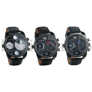 Men-Leather-Band-Imitation-Radar-Large-Dial-Two-Time-Analog-Quartz-Wrist-Watches