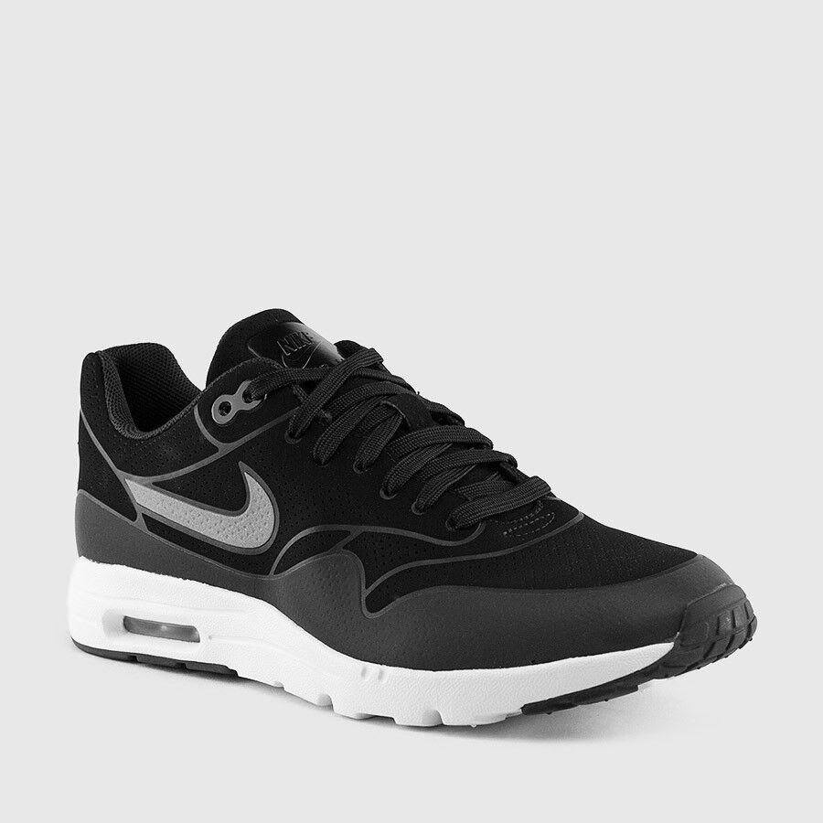 Nike Women's Air Max 1 Ultra Moire Running shoes Sneakers 704995-001 Black NIB