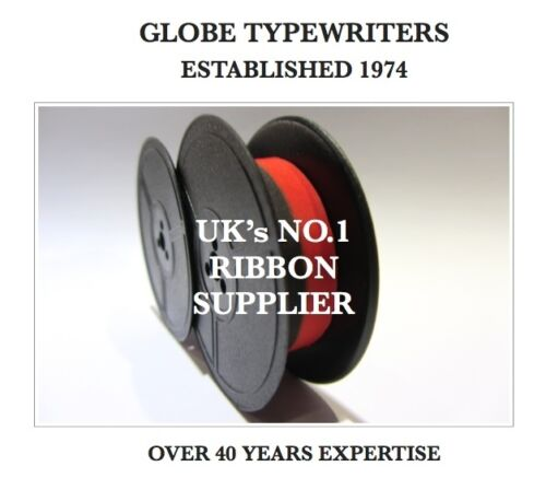 'TRIUMPH ADLER' BLACKRED TOP QUALITY 10 METRE TYPEWRITER RIBBON