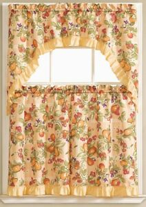 """3 pc Printed Curtains Set: 2 Tiers 60/""""x36/"""" HG PINK FLAMINGOS 30/""""x36/"""" /& Swag"""
