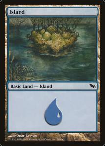 20x Shadowmoor ISLAND #286 Same Art Basic Land NM/LP MTG Magic the Gathering
