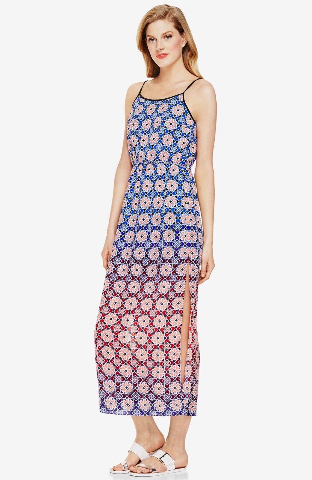 NWT   Vince Camuto 'Valencia Tile' Sleeveless Maxi Dress   SZ M   A090