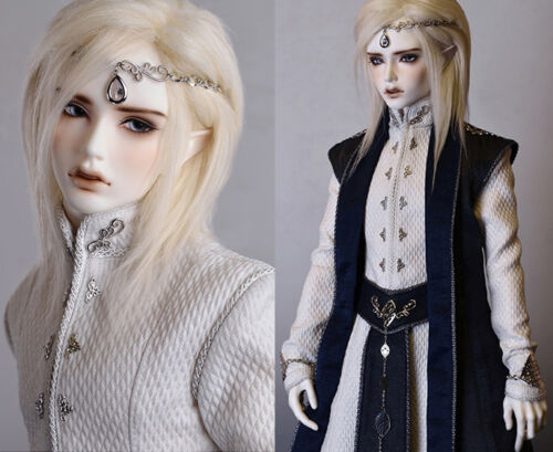 BJD Dia Male Elf Head Human Body With Eyes Free FaceUp Resin Figures MD65