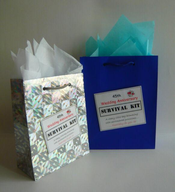 45th Sapphire Wedding Anniversary LUXURY SURVIVAL KIT Novelty Present Fun Gift
