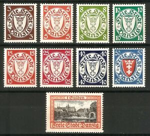 DR-Danzig-Nazi-Reich-Rare-WW2-Stamp-1938-Danzig-Castles-Service-Official-Classic