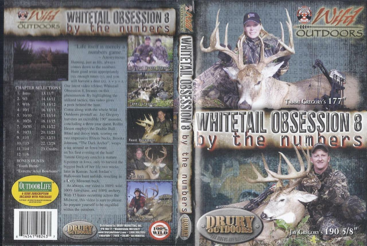 6824eb8ee6dce Drury Outdoors Whitetail Obsession 8 by The Numbers Deer Hunting DVD | eBay