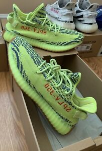 Details about ADIDAS YEEZY BOOST 350 V2 SEMI FROZEN YELLOW YEBRA B37572 SPLY MENS 12